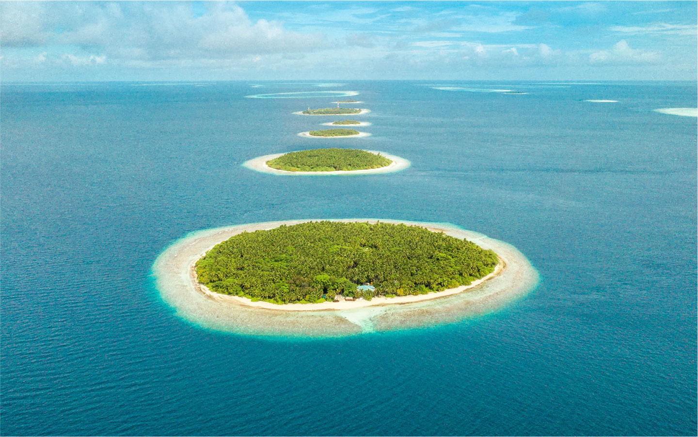 Green islands, Maldives